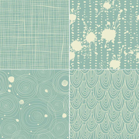 set of 4 seamless texture patterns  Vector