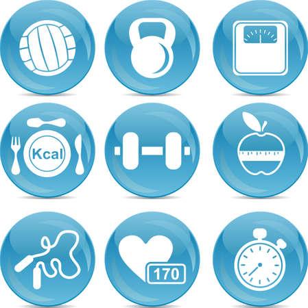 activity icon: fitness icons  Illustration