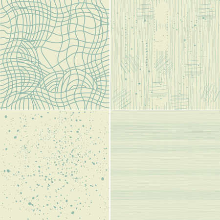 the set of 4 different seamless textures Vector