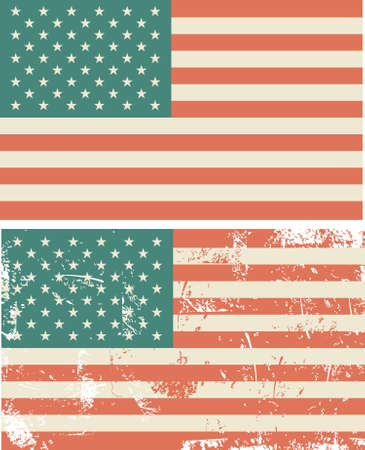 american grungy flags  Stock Vector - 14987622