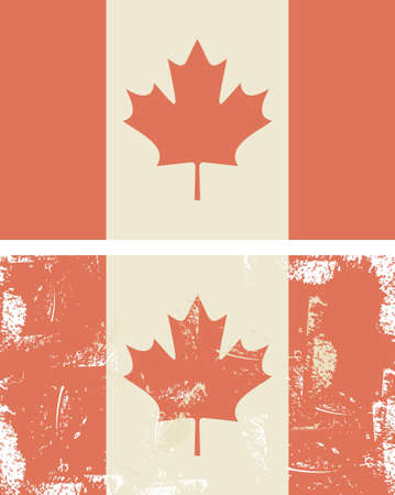 vintage canadian flag Stock Vector - 14987654
