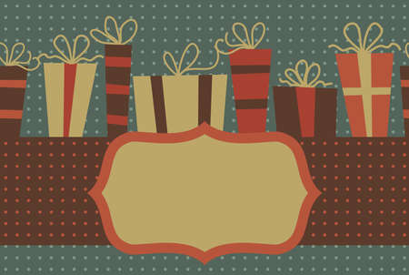 gift retro seamless background with an empty banner for your text or images Vector