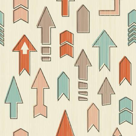 seamless upward arrows   Illustration
