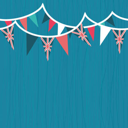 english patriotic seamless background with flags Vector