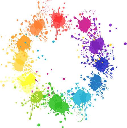 kleurenwiel met vlakke kleuren zonder transparantie Vector Illustratie