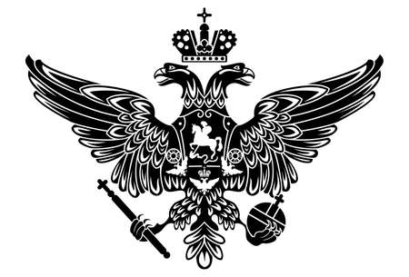heraldic animal: silhouette of coat of arms of russia russian empire