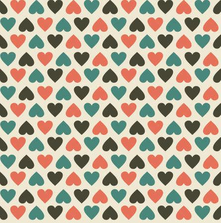 corazones del vintage seamless pattern