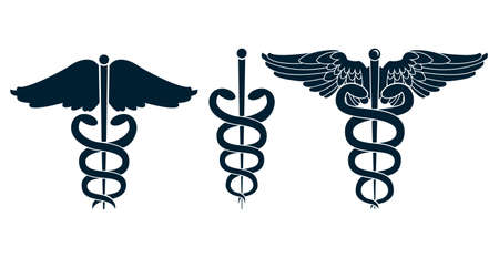 Set of medical caduceus  Stock Vector - 15008088
