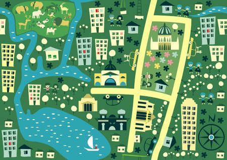 seamless cartoon map of australia