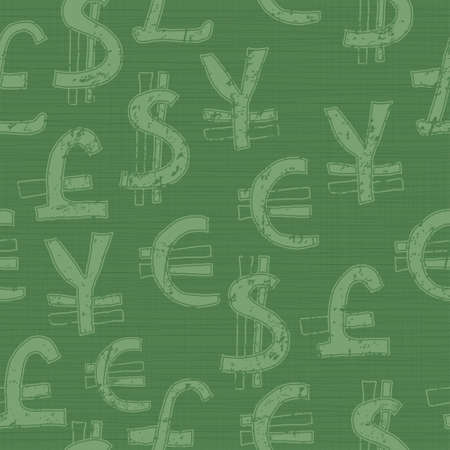 yen sign: world currency seamless pattern