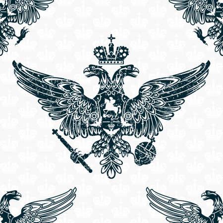 royal eagle seamless pattern  Illustration