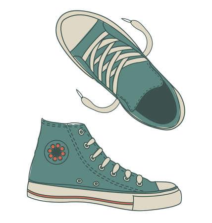 zapatos azules: calzado deportivo cobardes