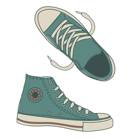 funky sports shoes  Vector