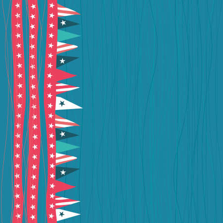 american patriotic seamless pattern with flags  Vector