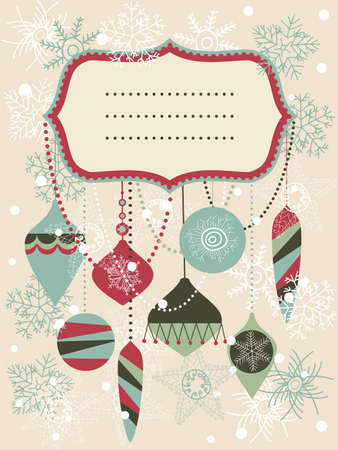 viewfinderchallenge1: retro Christmas background with place for your text  Illustration