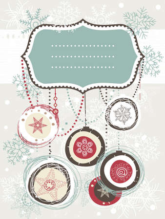Christmas background with place for your text Stock Vector - 15008156