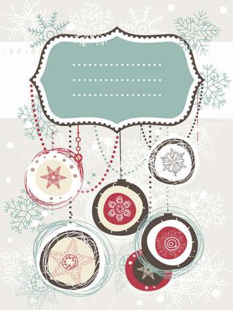 happy holidays: Kerst achtergrond met plaats voor uw tekst