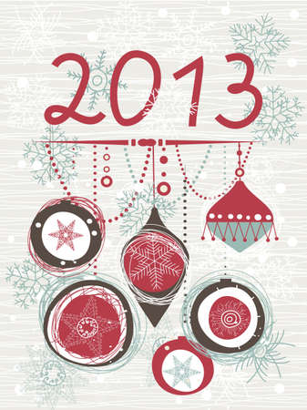 2013 Christmas card with space for your text or image Stock Vector - 15008157