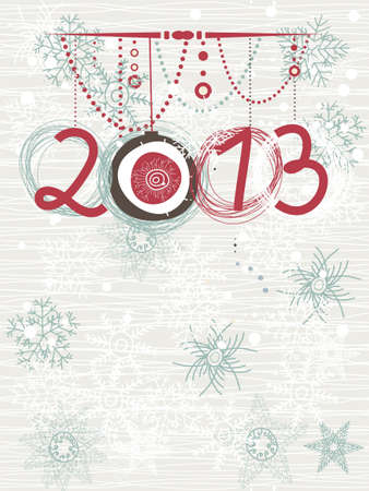 2013 Christmas card with space for your text or image  Vector