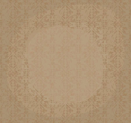 old seamless grungy background, old texture, wallpaper Vector