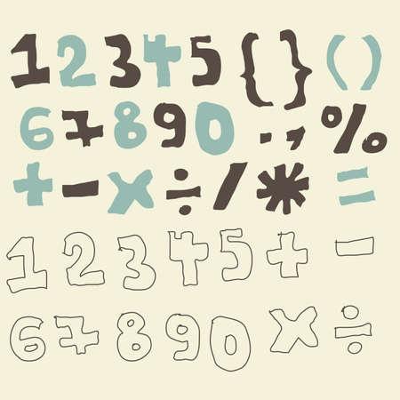 resolving: cifre funky e set segni matematica