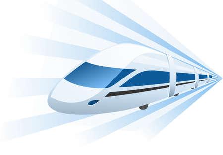 petit train: train rapide acc�l�ration dans le mouvement Illustration