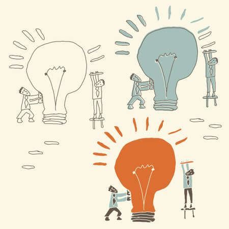 mutual help: concept of idea being created as a result of teamwork
