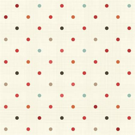 kleurrijke polka dot naadloze patroon op stof textuur Vector Illustratie