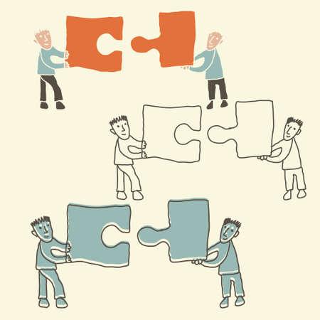 merge: teamwork concept