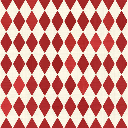 Seamless retro red harlequin background Vector