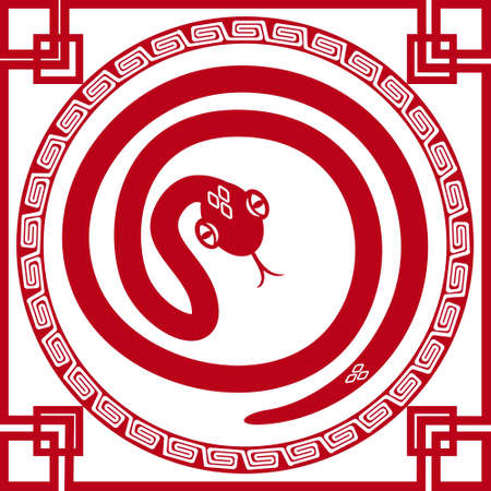 chinese paper cut snake as symbol of year 2013