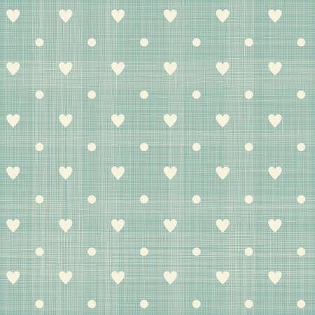 corazones sin costura patrón de lunares con textura retro