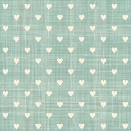 seamless hearts pattern with retro texture Vector
