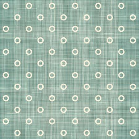 linen texture: seamless polka dot pattern in retro blue