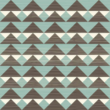 retro geometric triangles seamless pattern Vector