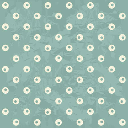 seamless polka dot pattern in retro blue Stock Vector - 16974858