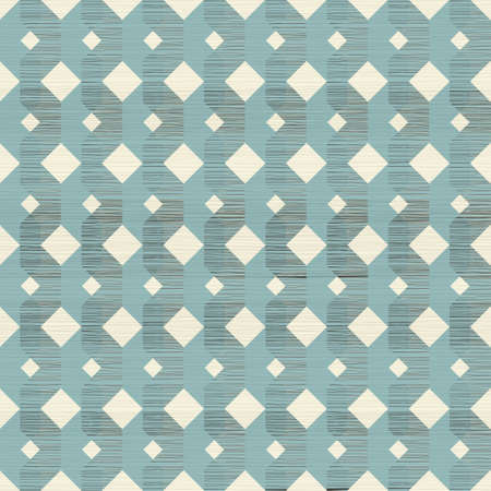 retro seamless pattern in blue beige and brown Vector