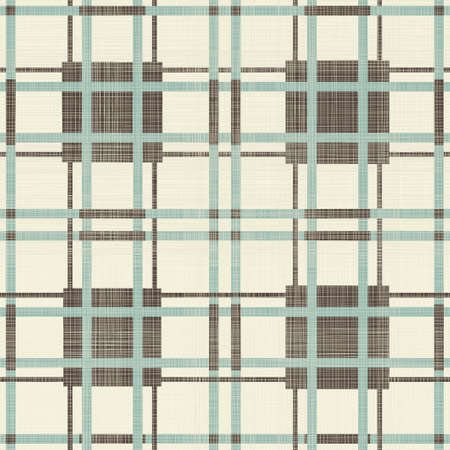 abstract geometric retro seamless blue, brown and grey background Vector