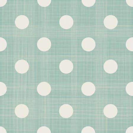 linen fabric: polka dot seamless pattern Illustration