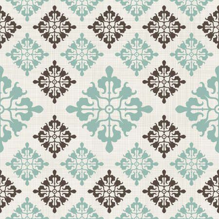 vintage seamless pattern with Victorian motif  Vector