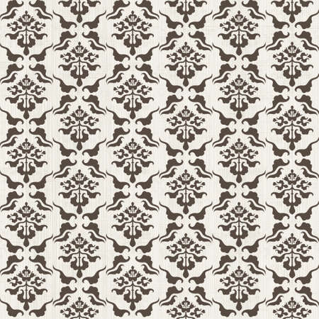 arabesque antique: seamless damask pattern with Victorian motif  Illustration