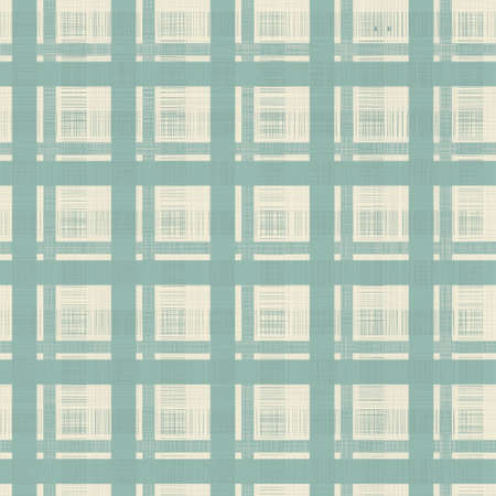 retro geometric seamless pattern in blue, and grey Vector