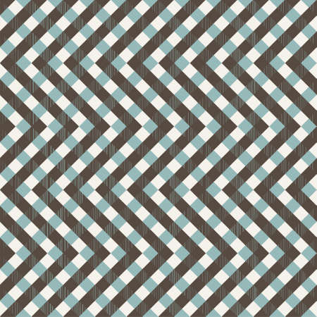 grunge wallpaper: retro seamless zigzag pattern with fabric texture on