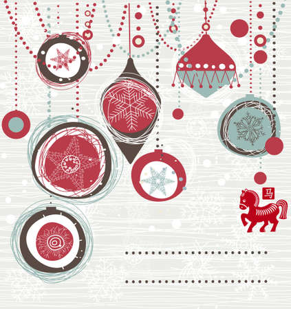Christmas card with space for your text or image Vector