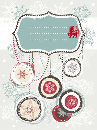 Christmas card with space Vector
