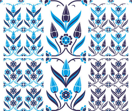set of six seamless patterns in traditional Turkish style Vector