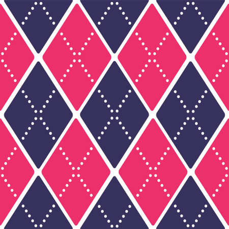 seamless retro harlequin pattern Vector