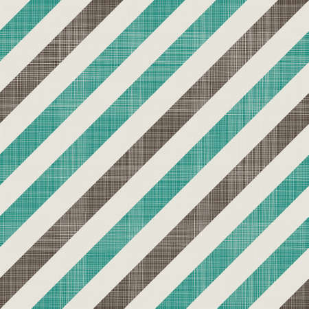 diagonal lines: seamless retro pattern with diagonal green and grey lines and fabric background texture