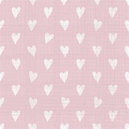 Nahtlose doodle Herzen Muster mit Gewebebeschaffenheit Standard-Bild - 26933556