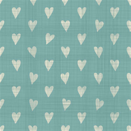 cute geometric seamless pattern with fabric texture effect in faded blue  Ilustrace